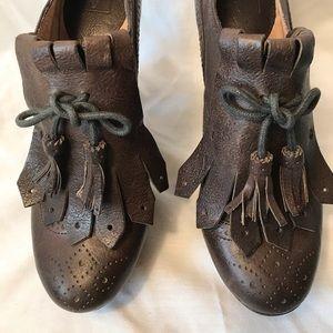 FRYE Naiya Kiltie Oxford Ankle Boots